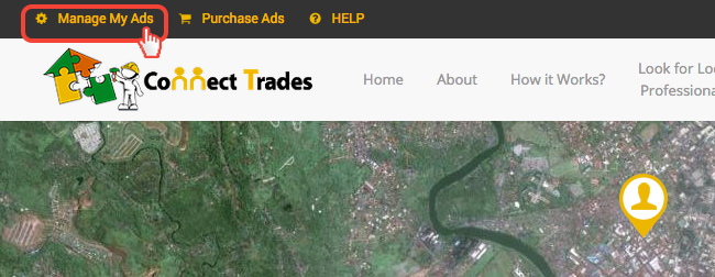 ConnectTrades Ad Management Page